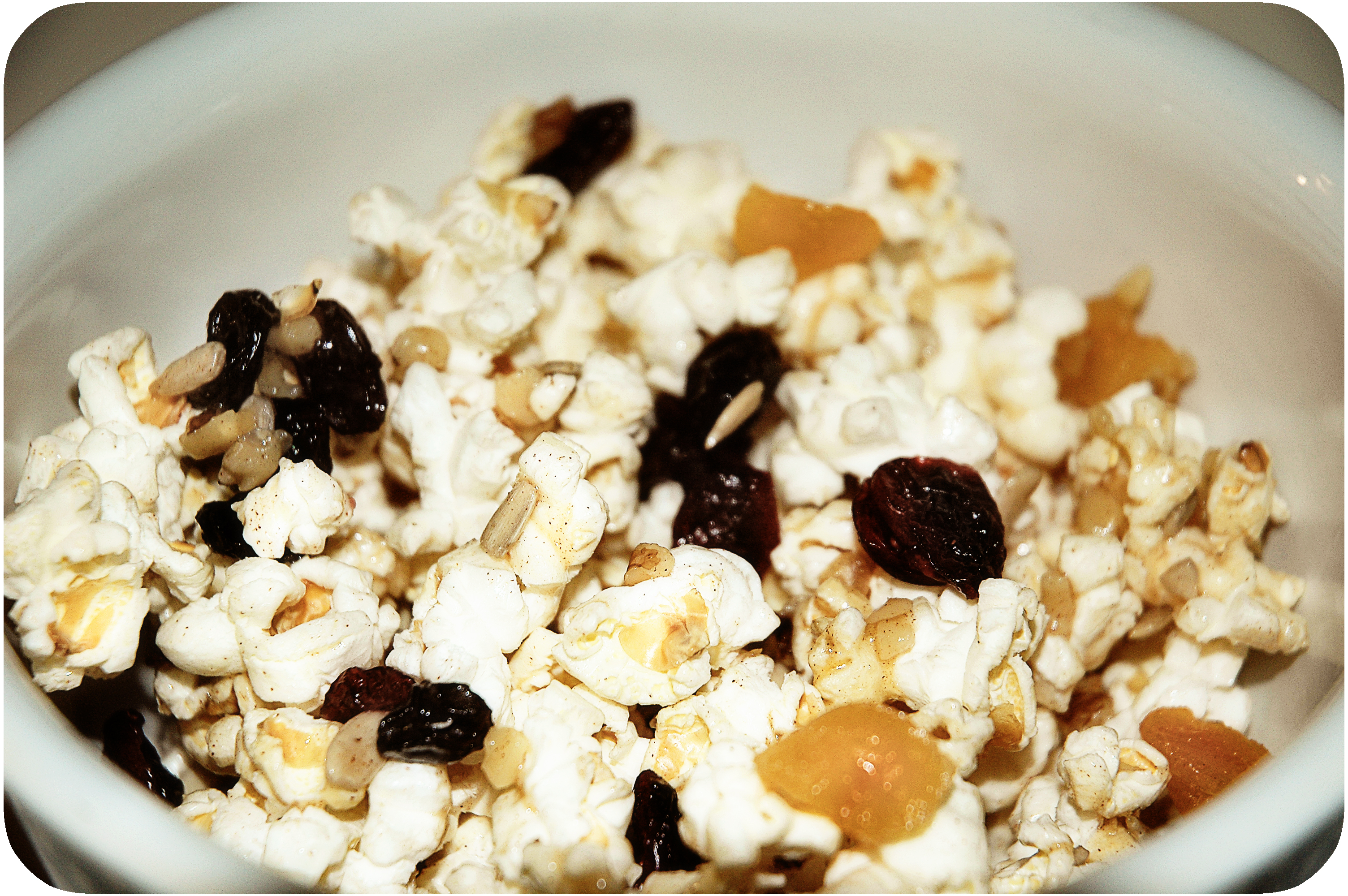 Pass the Trail-Mix Popcorn, Please {recipe}