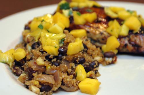 chipotle black bean quinoa