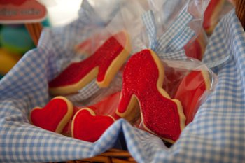 how to make ruby slipper cookies