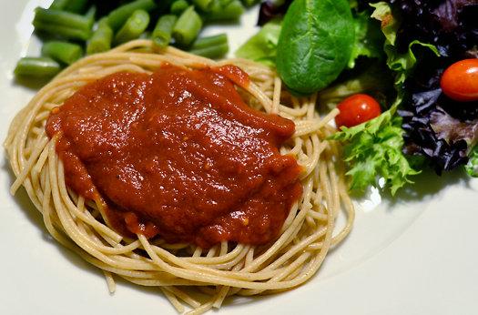 spaghetti sauce in the crockpot