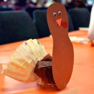 Thanksgiving Kid Craft – Turkey Placecards