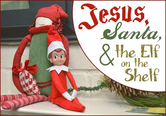 jesus santa and the elf on the shelf - Jesus Santa