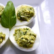 Pesto Deviled Eggs for a Dr. Seuss Bento