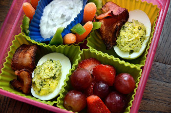 pesto deviled eggs