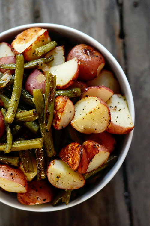 Roasted Potatoes and Beans