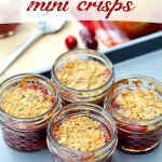 Apple-Cranberry Crisps baked in jars