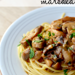 Chicken Mushroom Marsala Pasta #recipe | @rachellacy from Following In My Shoes
