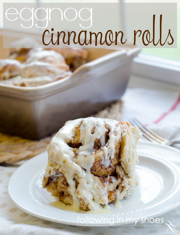 eggnog holiday recipe - eggnog cinnamon rolls
