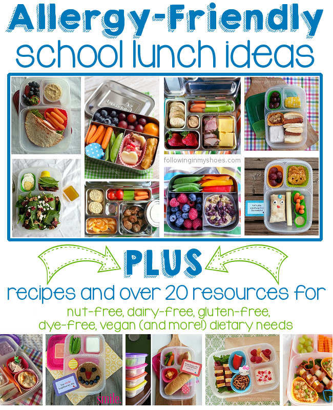 allergen friendly lunch resources and ideas