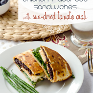 (hot or cold) Chicken Flatbread Sandwiches with Sun Dried Tomato Aioli