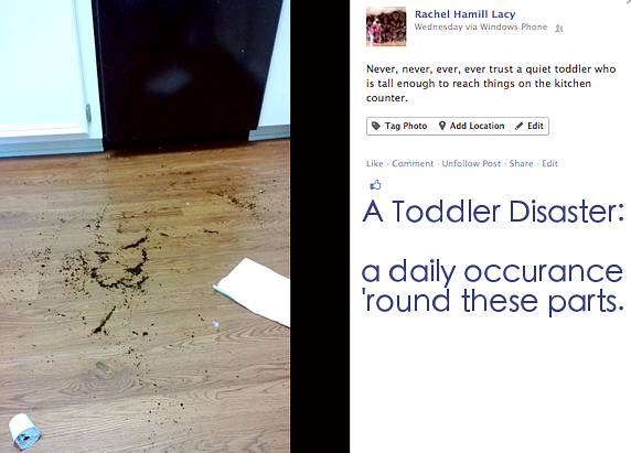 toddler messes