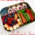 a rainbow bento for Valentines Day