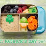 St Patrick&#039;s Day Bento in a Lunchbot Trio