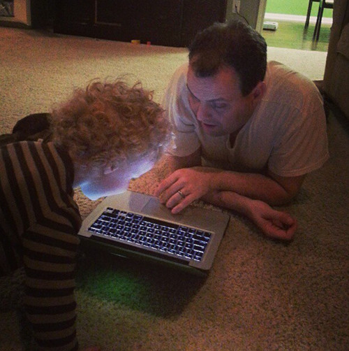 helping daddy