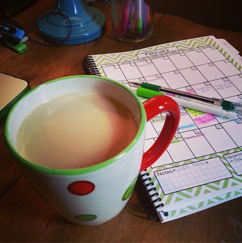 tea and brainstorming