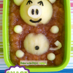 Crockpot Applesauce and Apples create the perfect, kid-friendly bento snack: a pig in a mud bath!