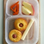 Corn Dog Cupcake Bento