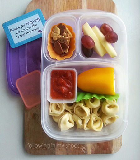 Pasta and Cheese School Lunch