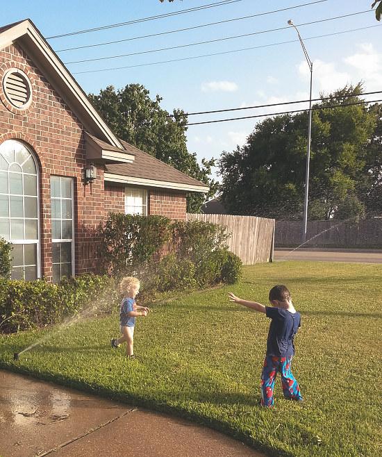 yard sprinkler fun again