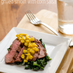 Grilled Sirloin with Corn Salsa