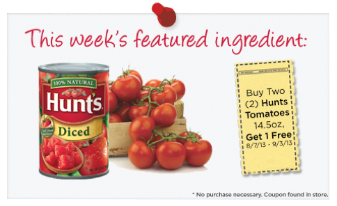 HEB Hunts Tomato Coupon