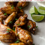 Slow Cooker Sweet Spicy Hot Wings #slowcooker #gameday #tailgate