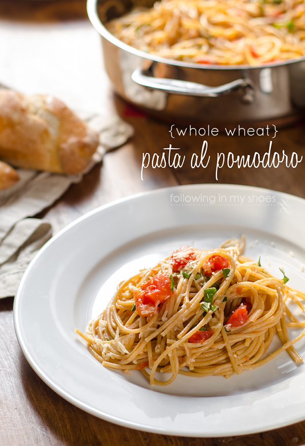 Whole Wheat Pasta al Pomodoro