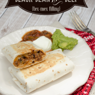 Black Bean and Beef Burritos filling - also great for pizza