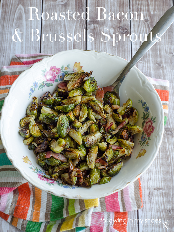 Roasted Brussels Sprouts with Bacon and a Balsamic Reduction