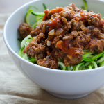 Grainfree Zucchini Noodles and Bolognese Sauce