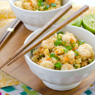 Spicy Shrimp Fried Cauliflower Rice {GF}
