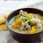 Slow Cooker Chicken Pot Pie Soup #grainfree #dairyfree #paleo