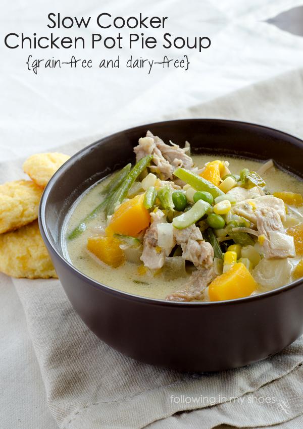 Slow Cooker Chicken Pot Pie Soup {gf, df}