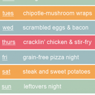 Weekly Grain Free Meal Plan (3-10-14): Bring On The Mushrooms!