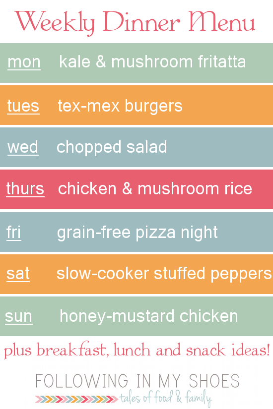 #grainfree meal plan 3-17-14