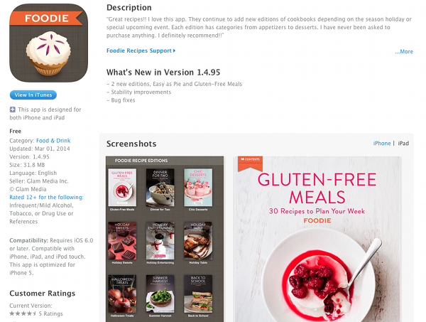 ipad app for foodie