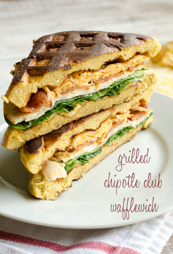 Grilled Chipotle Cheese Club Waffle-wich
