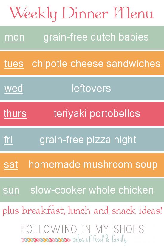 #grainfree meal plan 3-31-14