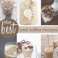 The Best Iced Coffee Recipes and Patriotic Straw Flags (free printables)