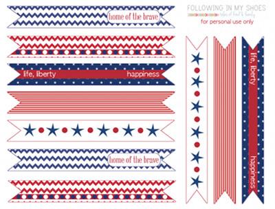 patriotic straw flags