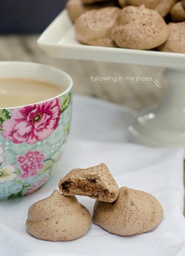 Double Espresso Mocha Meringue Cookies
