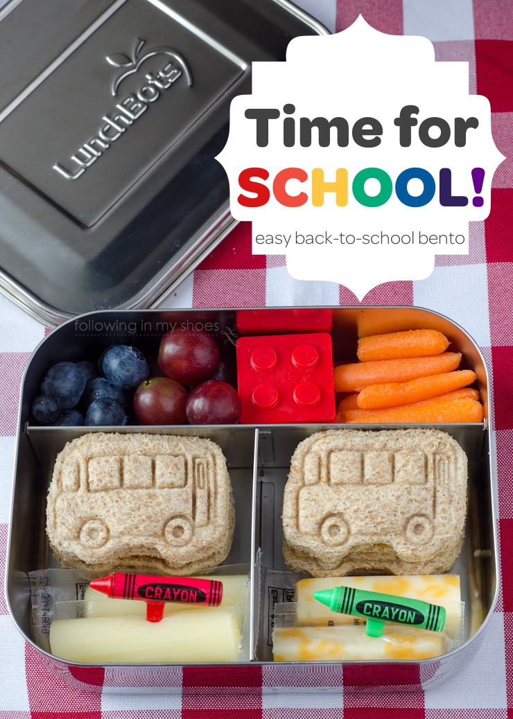 Simple Kindergarten Bento for Back To School