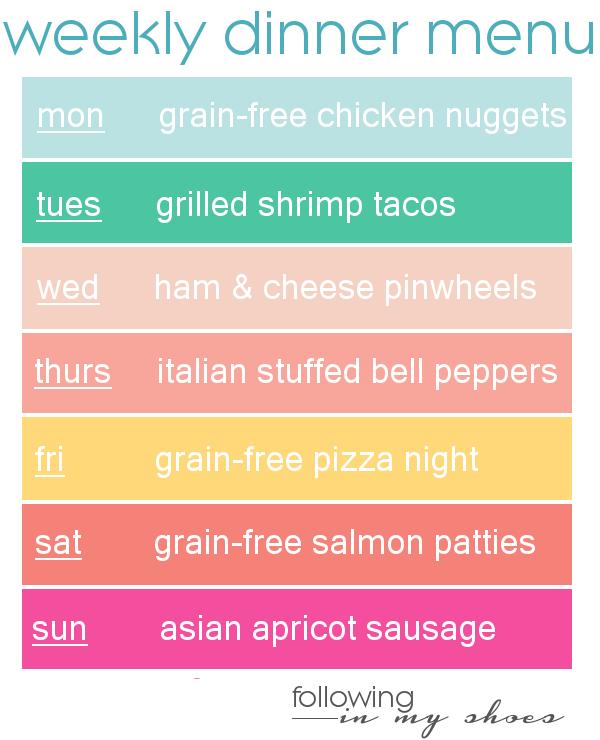 #grainfree meal plan 8-11-14