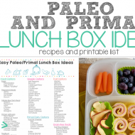 Paleo and Primal Lunch Ideas (and printable list)