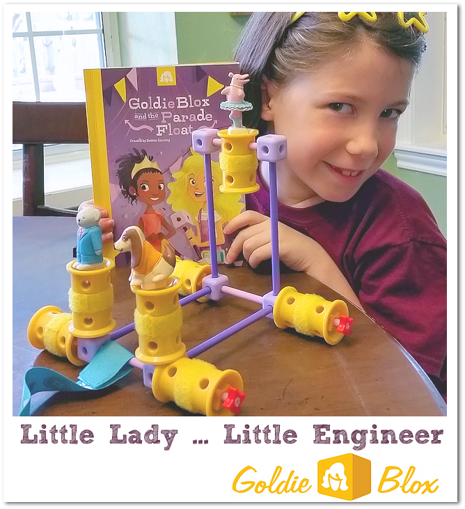 Goldie Blox so much fun - creative and educational!