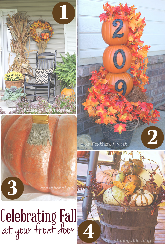 ways to celebrate fall at your front door