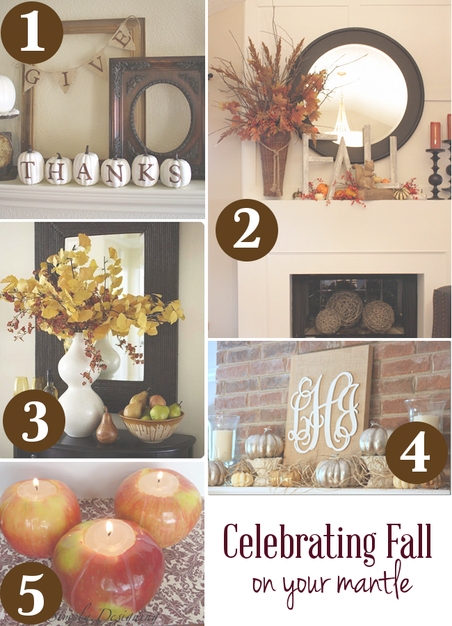 ways to celebrate fall on your mantle