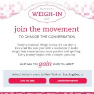 It Is National Weigh In Day and I'm Weighing In