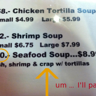 {semi-wordless wednesday} Don't Ask For The Soup