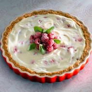 No-Bake White Chocolate Raspberry Cheesecake